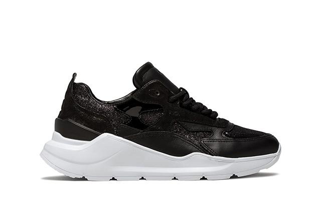 FUGA GLITTER BLACK | D.A.T.E. Sneakers