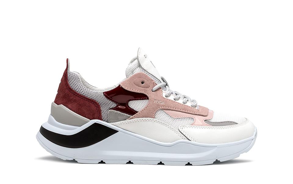 FUGA MESH WHITE-PINK | D.A.T.E. Sneakers
