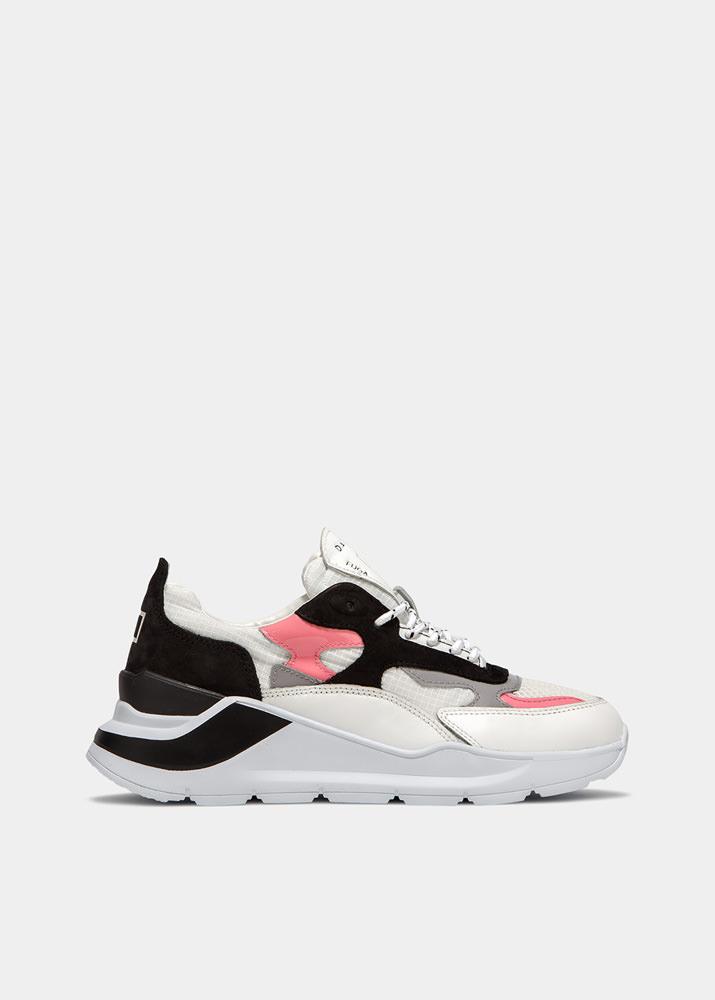 FUGA NETKI WHITE-PINK | D.A.T.E. Sneakers