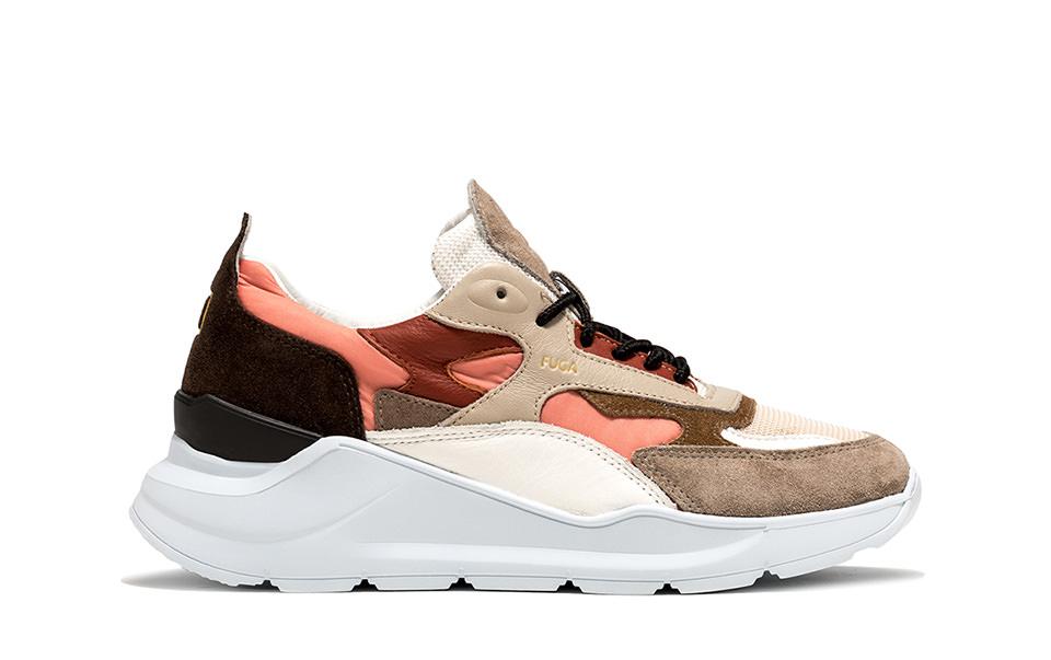 FUGA NYLON CORAL | D.A.T.E. Sneakers