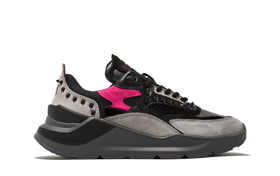 FUGA STUDS BLACK | D.A.T.E. Sneakers