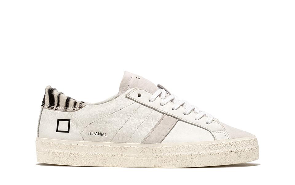 HILL LOW ANIMALIER WHITE-ZEBRA   D.A.T.E. Sneakers