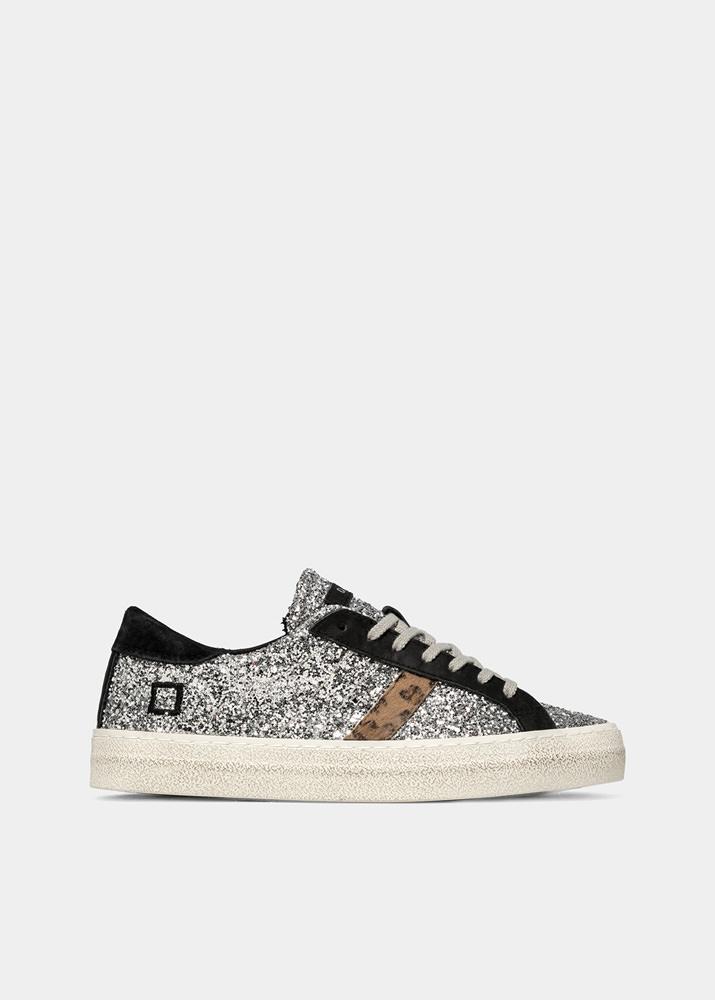 GLITTER BLACK-SILVER | D.A.T.E. Sneakers