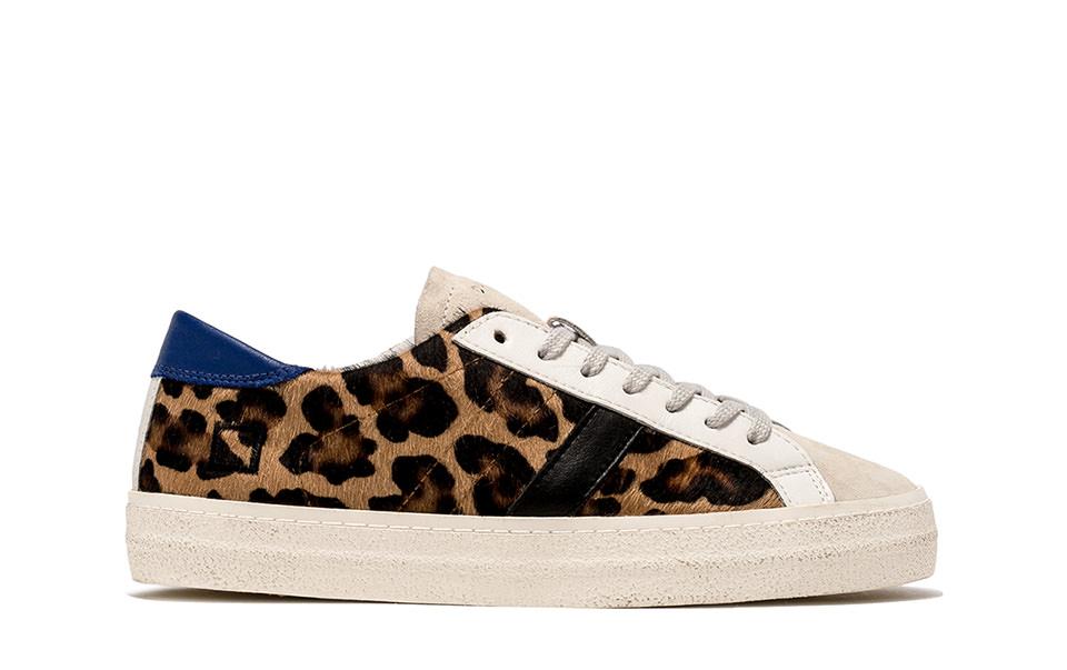 HILL LOW PONY LEOPARD | D.A.T.E. Sneakers