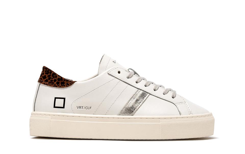 VERTIGO CALF WHITE-LEOPARD | D.A.T.E. Sneakers