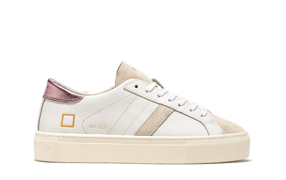 VERTIGO CALF WHITE-PINK | D.A.T.E. Sneakers